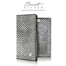 Dreamplus Snake Leather Swarovski Flip Wallet Case Cover for iPhone 6/6S/Plus
