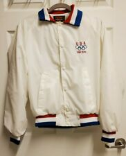 VTG 1988 USA OLYMPIC TEAM Jacket Arch Logo Men M USA Made Pla-Jac Dunbrooke