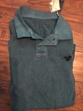NWT Mens AMERICAN EAGLE Polo Shirt, Spruce Green