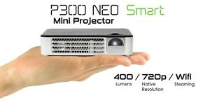 AAXA P300 Neo Smart Android Mini Projector w/ WiFi, Bluetooth, Streaming(REFURB)