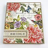 Botanical Bridge Cards Gift Set Michel Design Work Peony Vintage 2 Pack Register