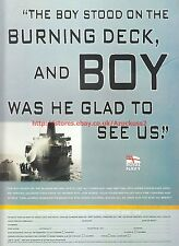 "Royal Navy ""Burning Deck"" 1999 Magazine Advert #7809"