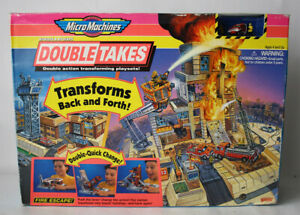 RARE VINTAGE 1995 MICRO MACHINES DOUBLE TAKES 2 IN 1 FIRE ESCAPE GALOOB NEW MISB