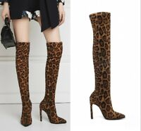Women's Nightclub Over Knee Boots Thigh High Heels Stiletto Heel Shoes Stretchy