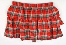 NWT RALPH LAUREN Denim & Supply Red Flannel Cotton Tiered FALL PLAID Skirt Sz XL