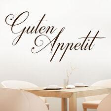 Wandtattoo Guten Appetit Schriftzug Küche Esszimmer Wandaufkleber von KLEBEHELD®