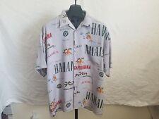 Vintage Koman Sport Size Xl 1980s Caribbean Country Names Button Down S/S Shirt