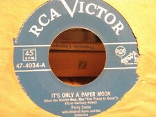 ++PERRY COMO it's only a paper moon/me and my shadow SP RCA USA VG++