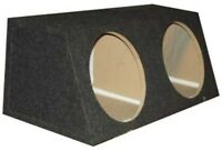 """Subwoofer Box Triple 10/"""" Sealed Common Chamber 3.07 Cu Ft Air Space"""