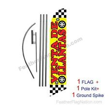 Venta de Llantas 15ft Feather Banner Swooper Flag Kit with pole+spike