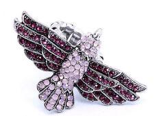 Fushia Crystal Bird Stretch Ring