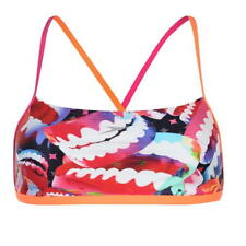 Speedo Digital Bikini Tankini Top Orange Red Size 12 UK