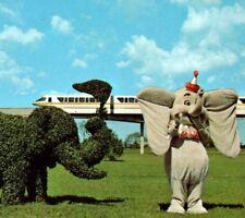 Dumbo the Elephant Topiary Lane Walt Disney World Resort FL Vintage Postcard