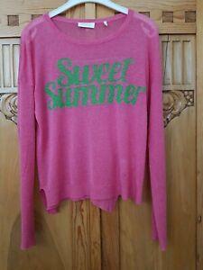 RIch&Royal Sommer Pulli Pullover Pink Feinstrick Gr M