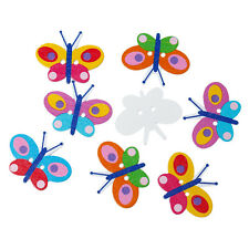 10 Large Wooden Novelty Butterfly Buttons, sewing,card making, crafts 3.5cm