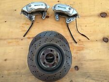 MERCEDES C55 CLK55 FRONT BREMBO BRAKE CALIPERS CALIPER LEFT & RIGHT WITH ROTORS