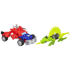 New Transformers  Construct Bots Dinobot Warriors Optimus Prime and Gnaw Dino