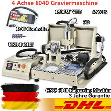 USB 1500W Graviermaschine 4 Achse 6040 CNC Fräsmaschine Router Engraver + Remote
