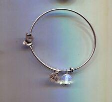 clear crystal drop bracelet Alex & Ani silver