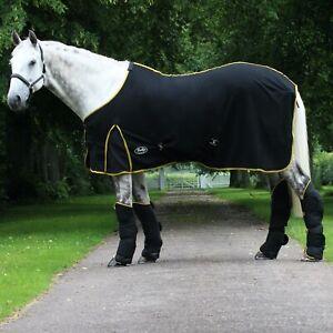 Gallop Majestic Black & Gold or Navy Fleece Cooler Horse Rug Travel 321