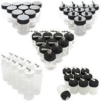 10x Dual-Action Single-Action Airbrush Bottles for Airbrush Kit Glass Plastic