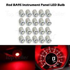 20pcs Ba9s Red LED Bulb Car Lamp 12V Instrument Cluster Gauge Indicator Light