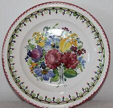 Gmundner Keramik Teller, handbemalt, Bauernblumen