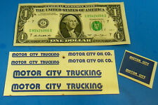 HO TYCO US-1 MOTOR CITY TRUCKING Slot Car US1 Highway Signs CUT & PEEL STICKERS