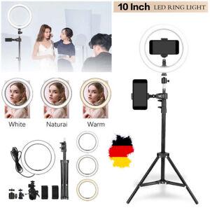 120cm LED Ringleuchte Ringlicht Dimmbar + Handy Stativ  für Live YouTube /Makeup