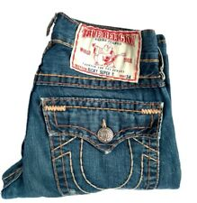 Mens TRUE RELIGION RICKY SUPER T Seat 34 Jeans - Rn112790 CA30427 - Made in USA