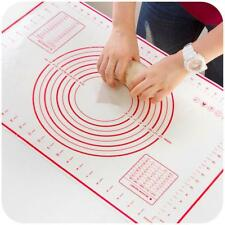 Silicone Pastry Baking Mat Pizza Dough Sheet Pie Measuring Crust Rolling Liner