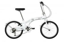 "Barracuda Apus Unisex 20"" Wheel 6 Speed Classic Folding Bike Bicycle White"