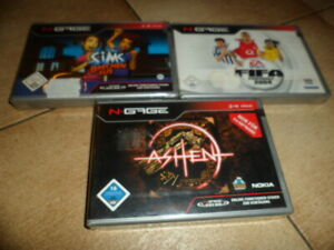 Nokia N Gage 3 Spiele im pack 1.Ashen 2.Sims brechen aus und 3.Fifa 2004 DE vers