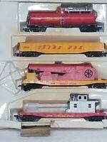 AHM Firefox FireFighting Set - Tanker - Hose Car - HO Scale Trains - No Plane