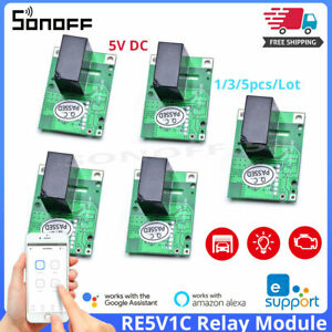 SONOFF RE5V1C Relay Module 5V WiFi DIY Smart Switch Dry Contact Remote Control