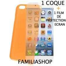 Housse étui pochette coque orange iphone 6 4.7 + 1 film de protection écran