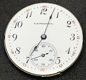 Elgin Grade 267 Pocket Watch Movement 0s 15j Model 2 Hunter Repair F5529