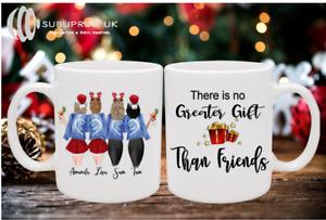 Christmas Best Friends / Sister / Mum Personalised Mug - Four Person