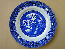 c.1940s  Vintage RIDGWAY   Willow Pattern  Plate 22.5 cm  /lot 2/
