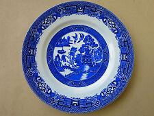 c.1940s  Vintage RIDGWAY   Willow Pattern  Plate 22.5 cm  /lot 1/