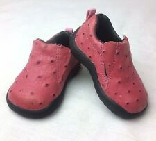 Roper Infant size 2 Western Girl Toddler Ostrich Moc Shoe Pink Leather so cute!
