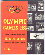 OLYMPIC GAMES 1956 British Olympic Association Official Report