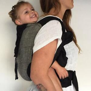 Wrap Baby Carrier.... Available in Black Ink & Natural Stripe,
