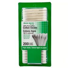 Assured 100% Pure Cotton Swabs - 200 Ct