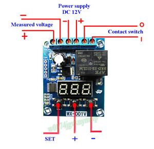 Voltage Detection Module Relay Switch Charging Discharge Monitoring Protection