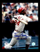 Tony Perez PSA DNA Coa Hand Signed 8x10 HOF 2000 Photo Autograph