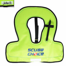 Scuba Choice Scuba Choice Youth Kids Snorkel Vest Neon Yellow/Blue with Name Box