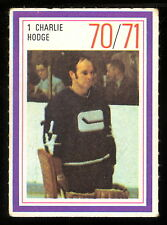1970-71 ESSO POWER PLAYERS NHL 1 CHARLIE HODGE NM VANCOUVER CANUCKS UNUSED STAMP