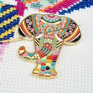 Mandala Elephant Needle Minder, Enamel Needle Minder, Magnet by Meloca Designs