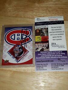 Carey PRICE Signed JSA COA 2009/10 UD Authentic Card AUTO Canadiens